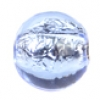 Glass Lamp Bead Round 8mm Light Sapphire/Silver Lined